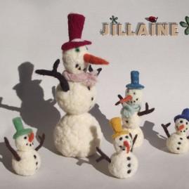Doudous bonshommes de neige